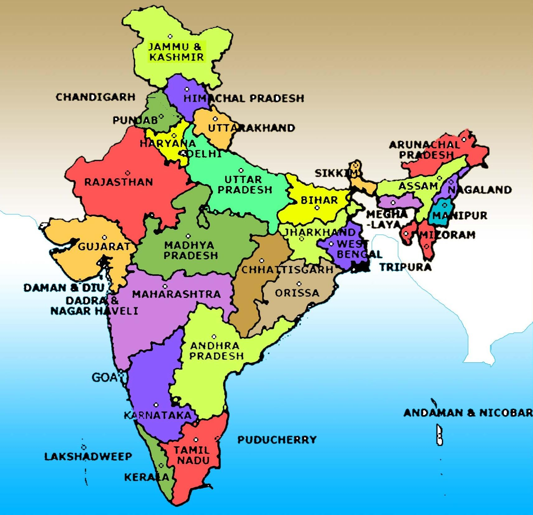 India Map With State Name.India Map Image With State Name Map Of India Image With State Name