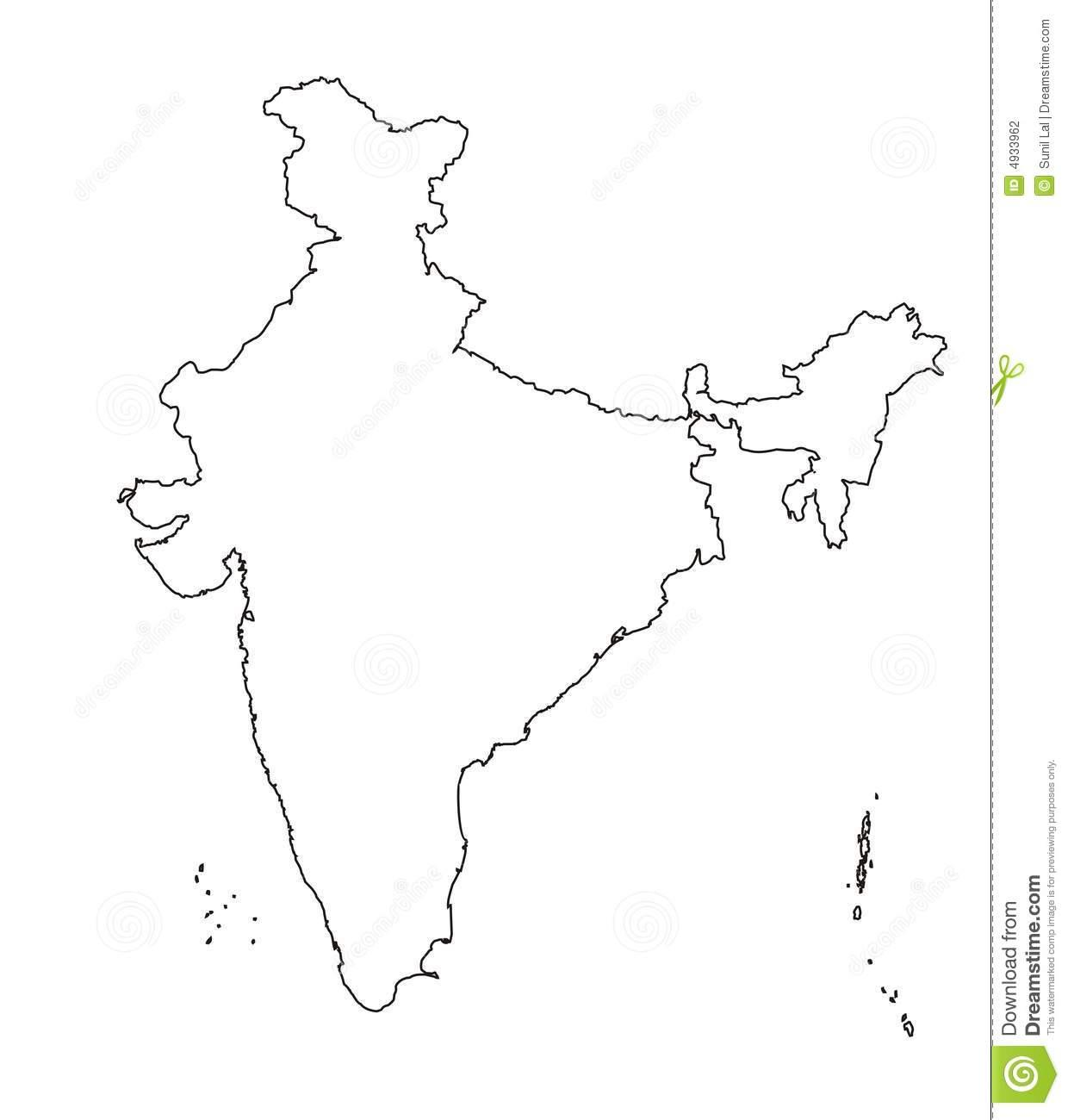 India Map Only Outline
