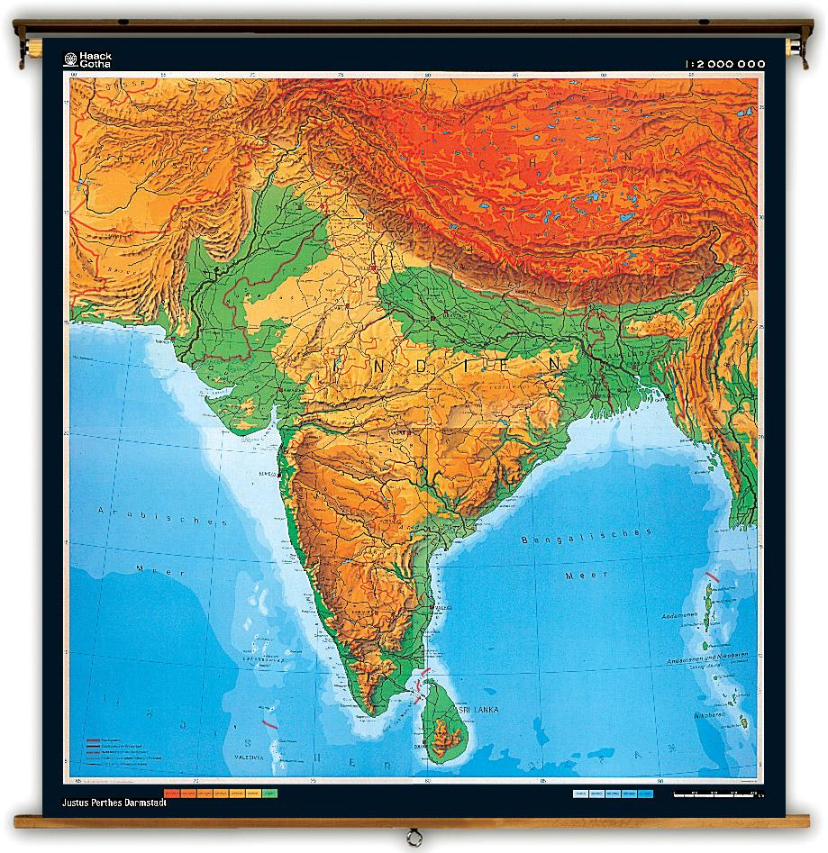 India Topographic Map Topographic Map India Southern Asia Asia