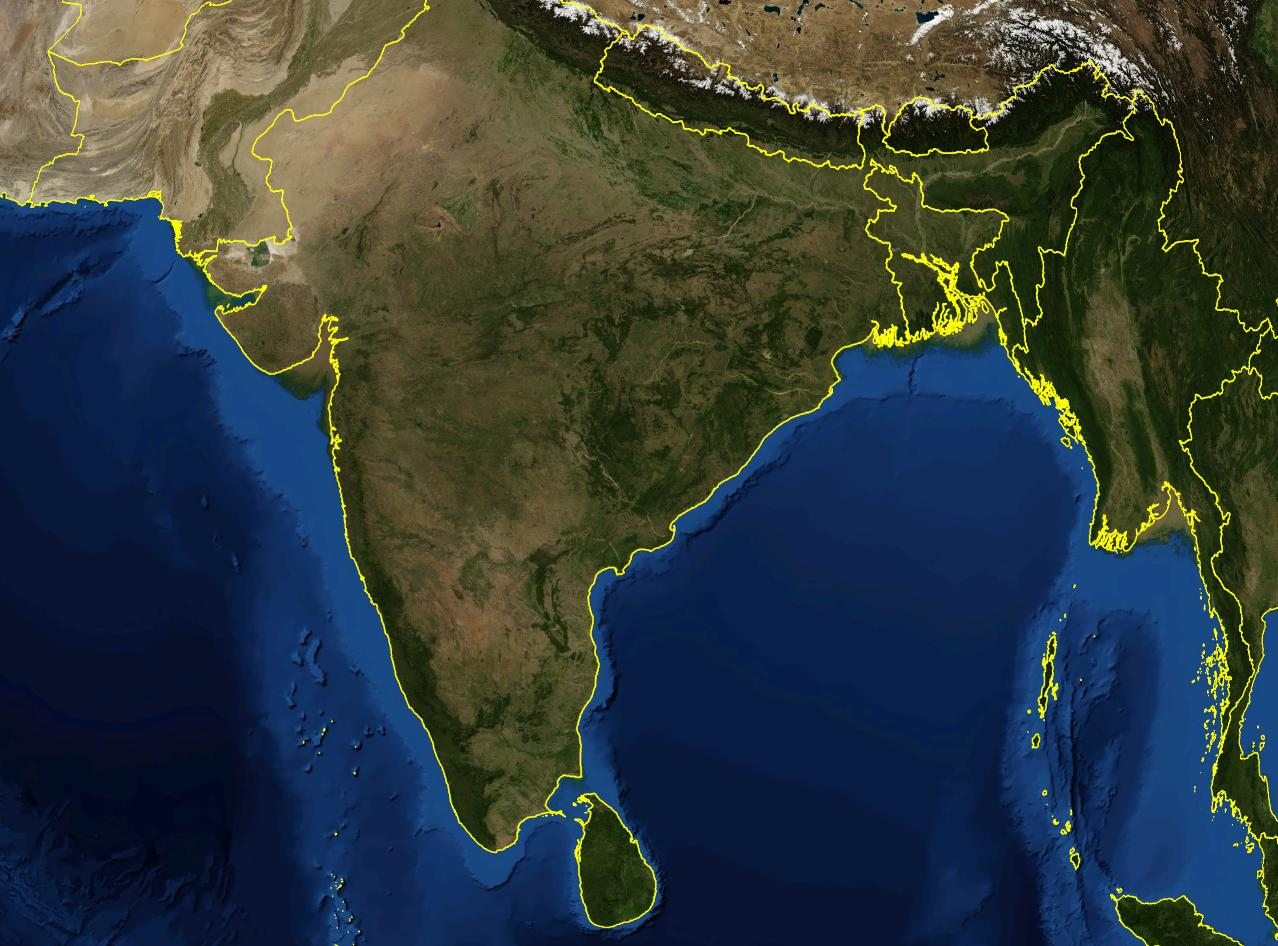 satellite map of india live