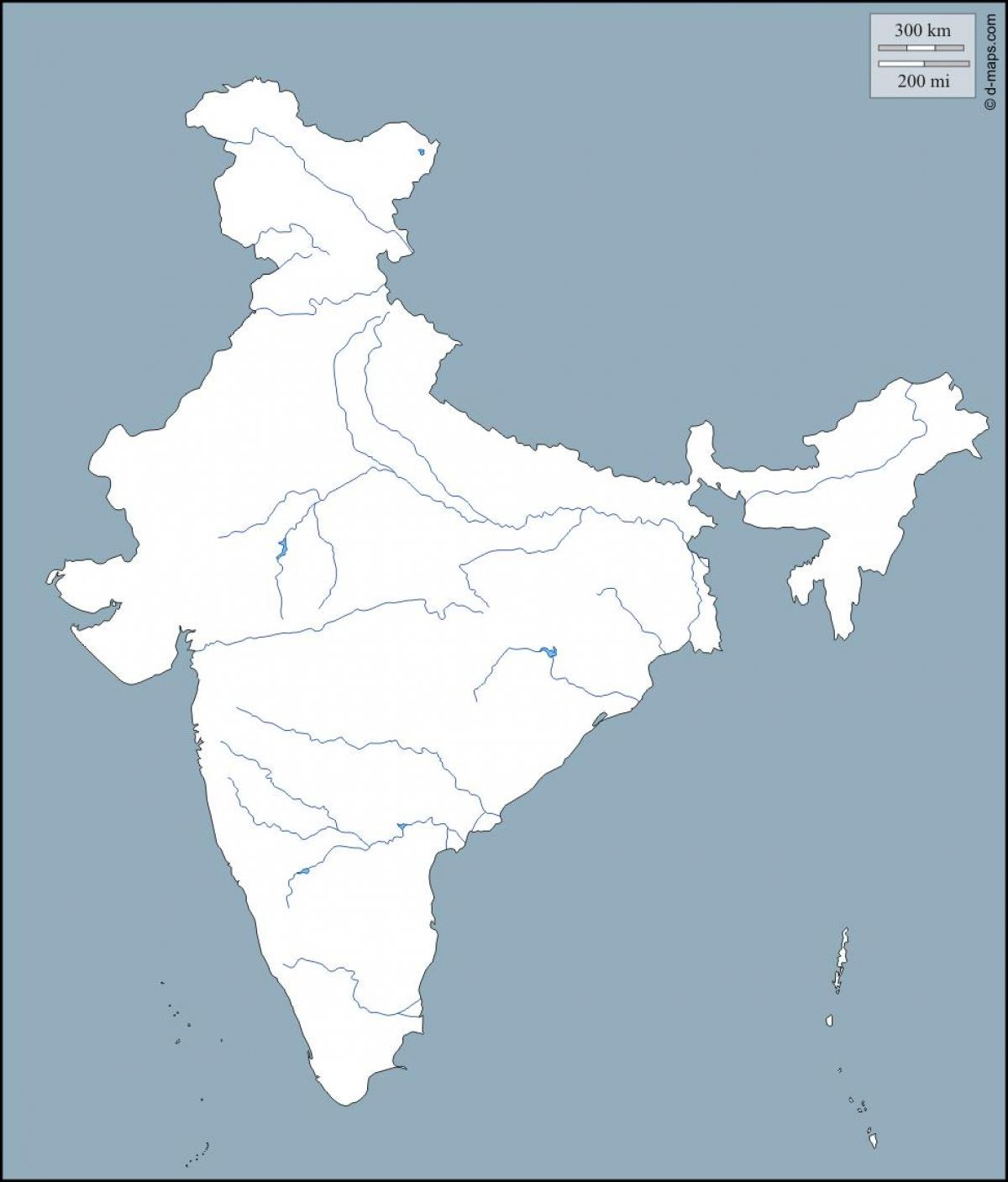 Blank River Map Of India India River Map Blank Southern Asia Asia