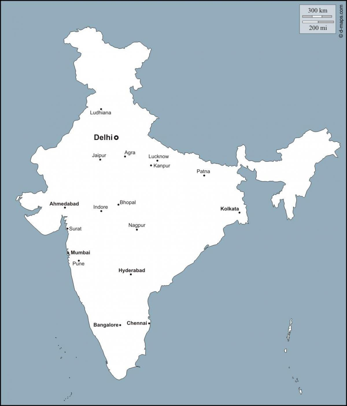 Important Cities In India Map Map Of India With Important Cities