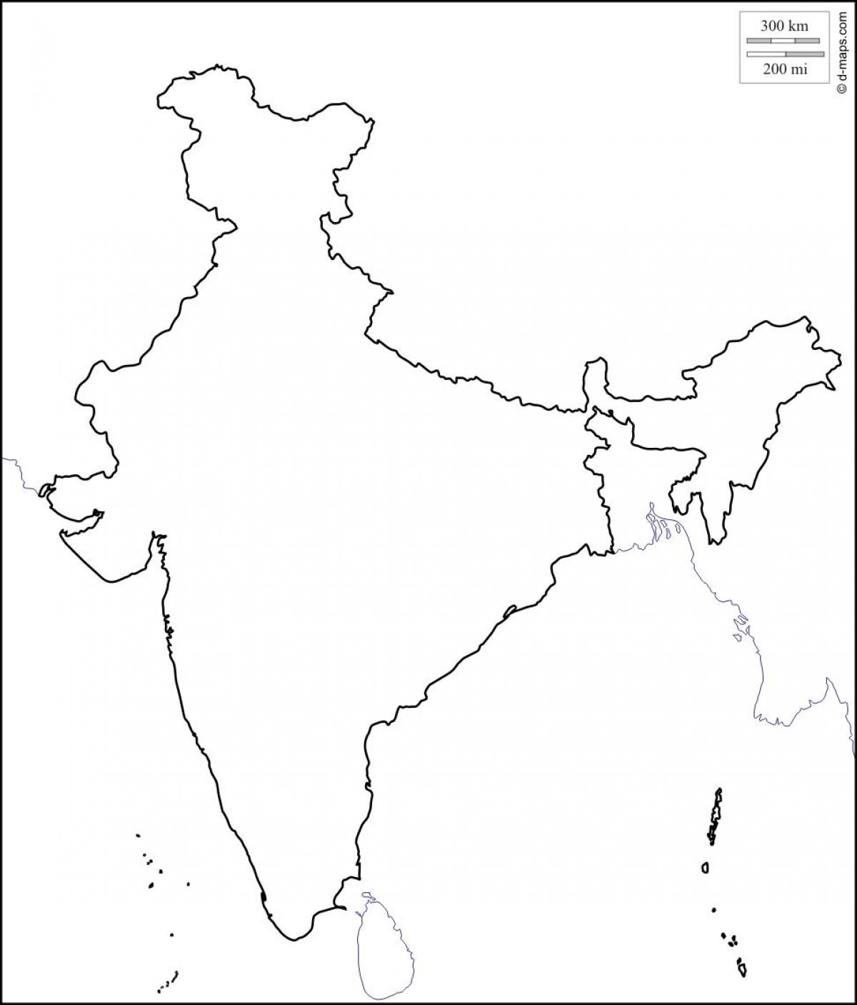 Maharashtra Blank Map India Printable Blank Maps Outline Maps - Blank map of asia
