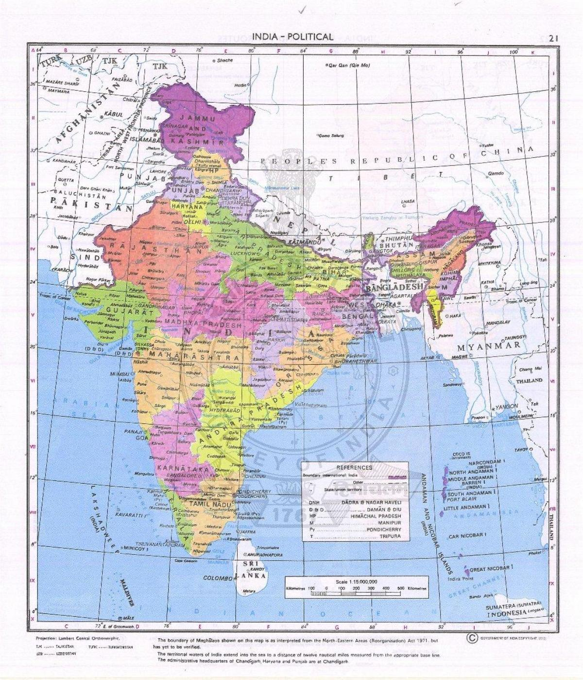 official map of India