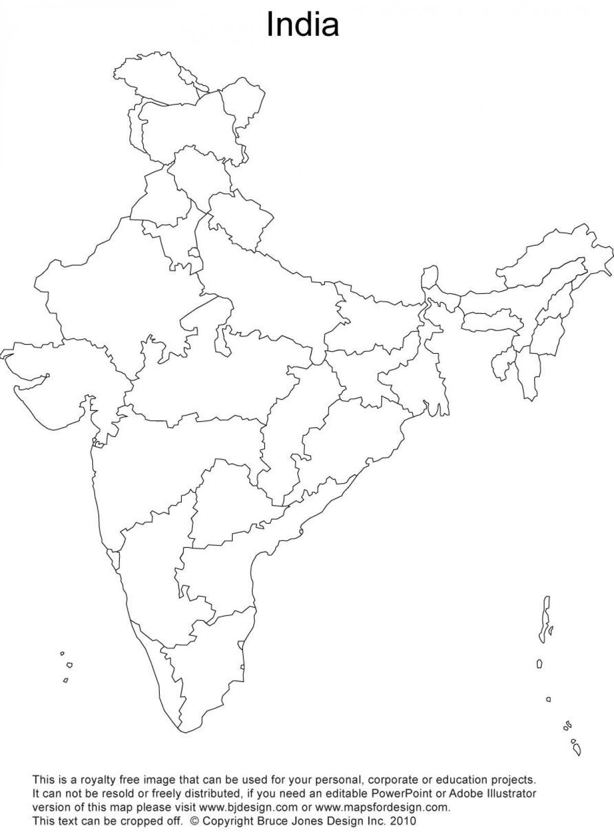 India Political Map Outline India Political Outline Map - Political map outline