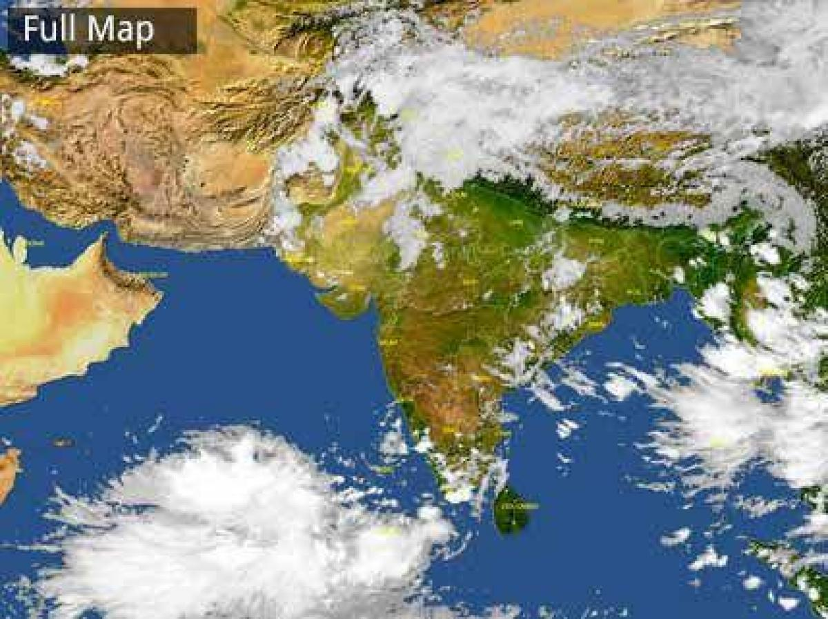 Setelight Map Of India.India Satellite Map Weather Weather India Satellite Map Southern