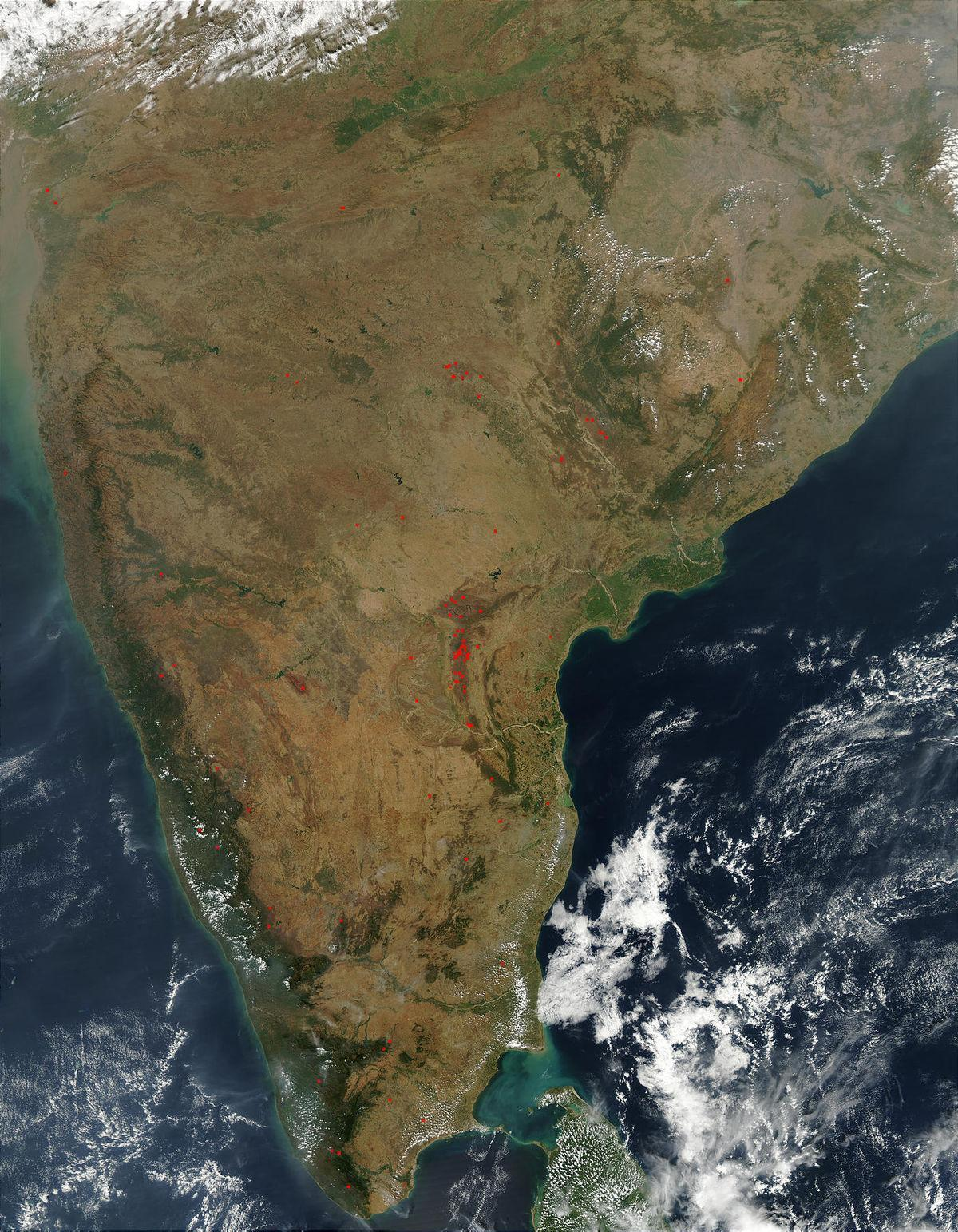 India satellite weather map live - Satellite weather map of
