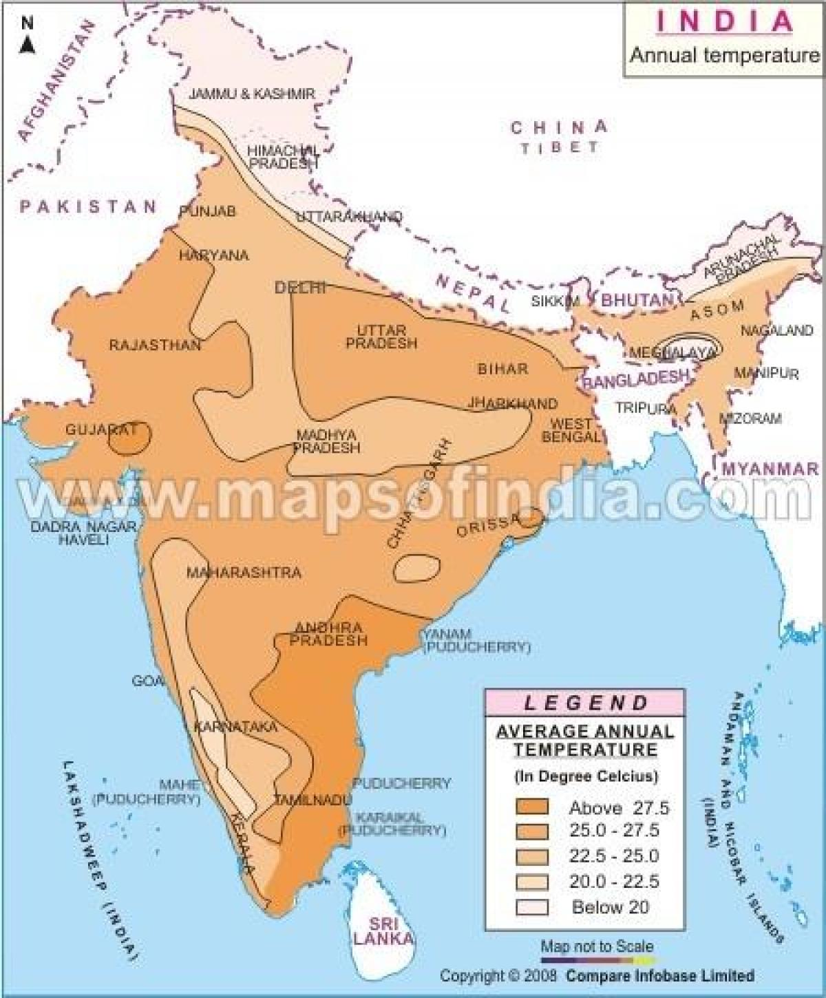 Map Of Asia Today.India Temperature Map Today India Temperature Today Map Southern