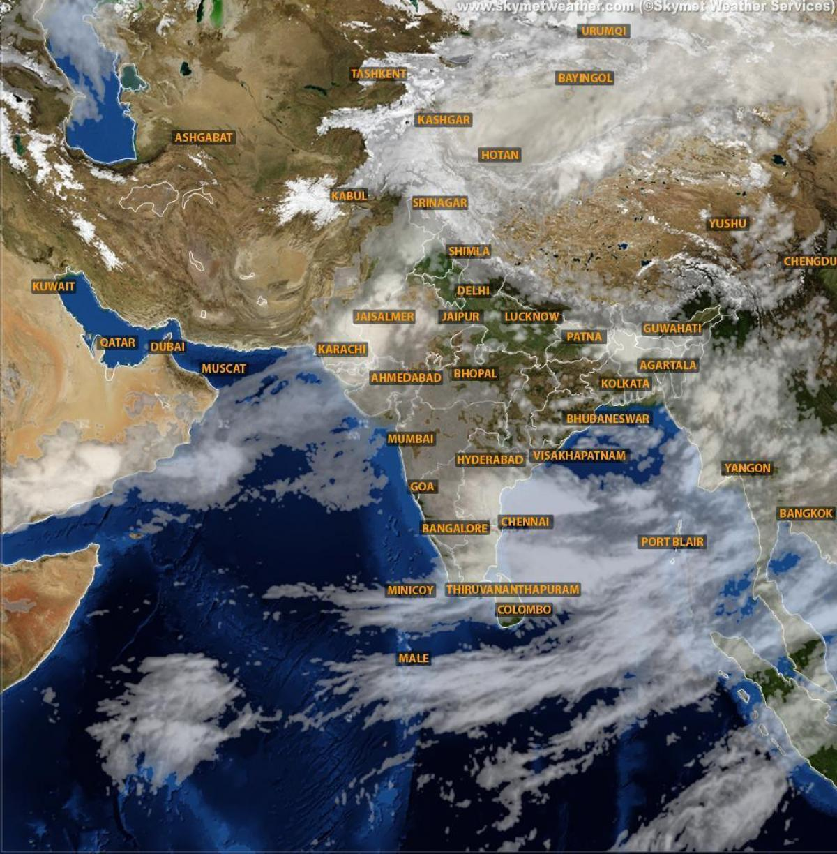 India Weather Satellite Map India weather satellite map   India satellite weather map