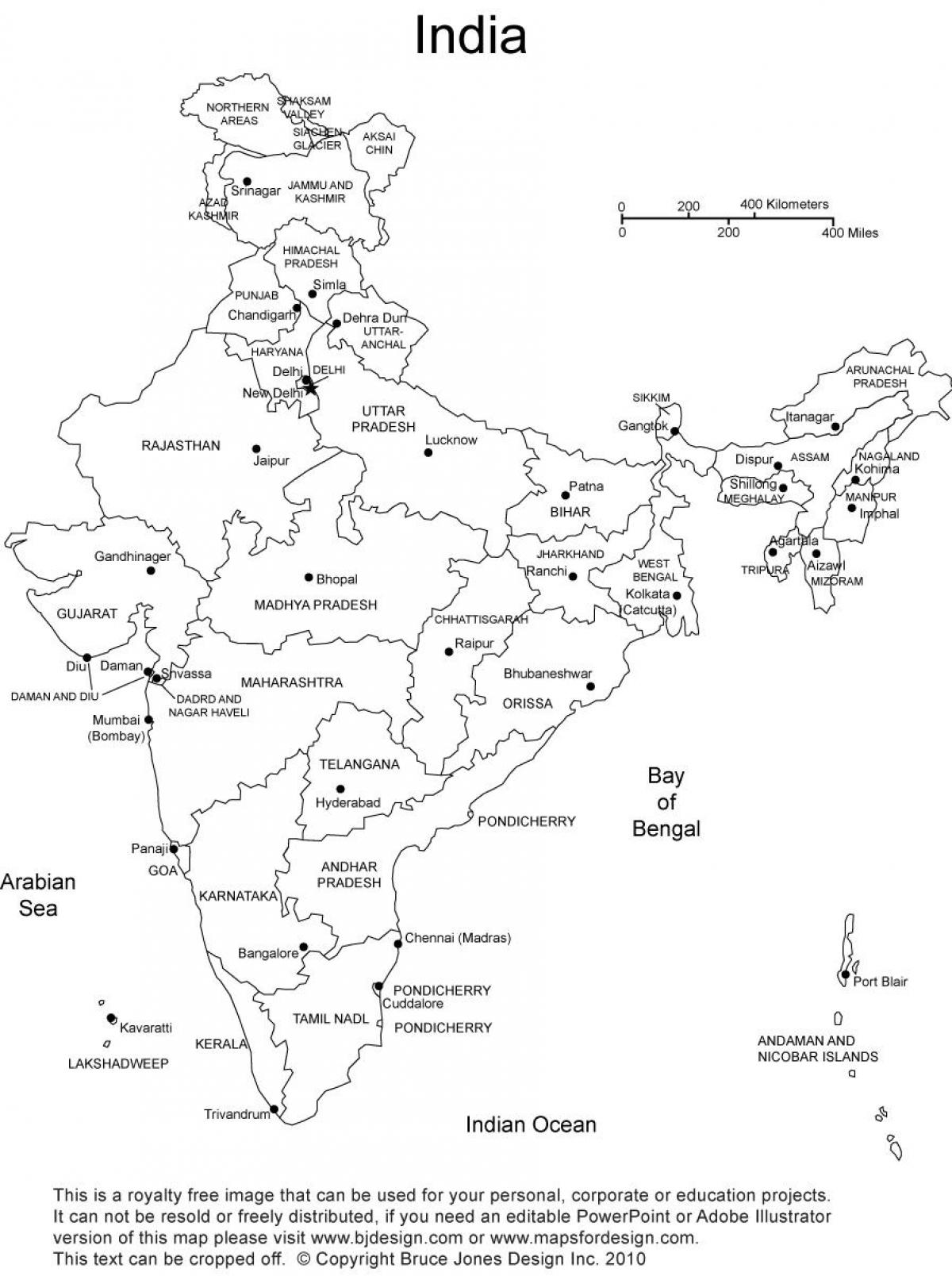 Outline map of india with states marked india outline map with india outline map with states marked thecheapjerseys Image collections