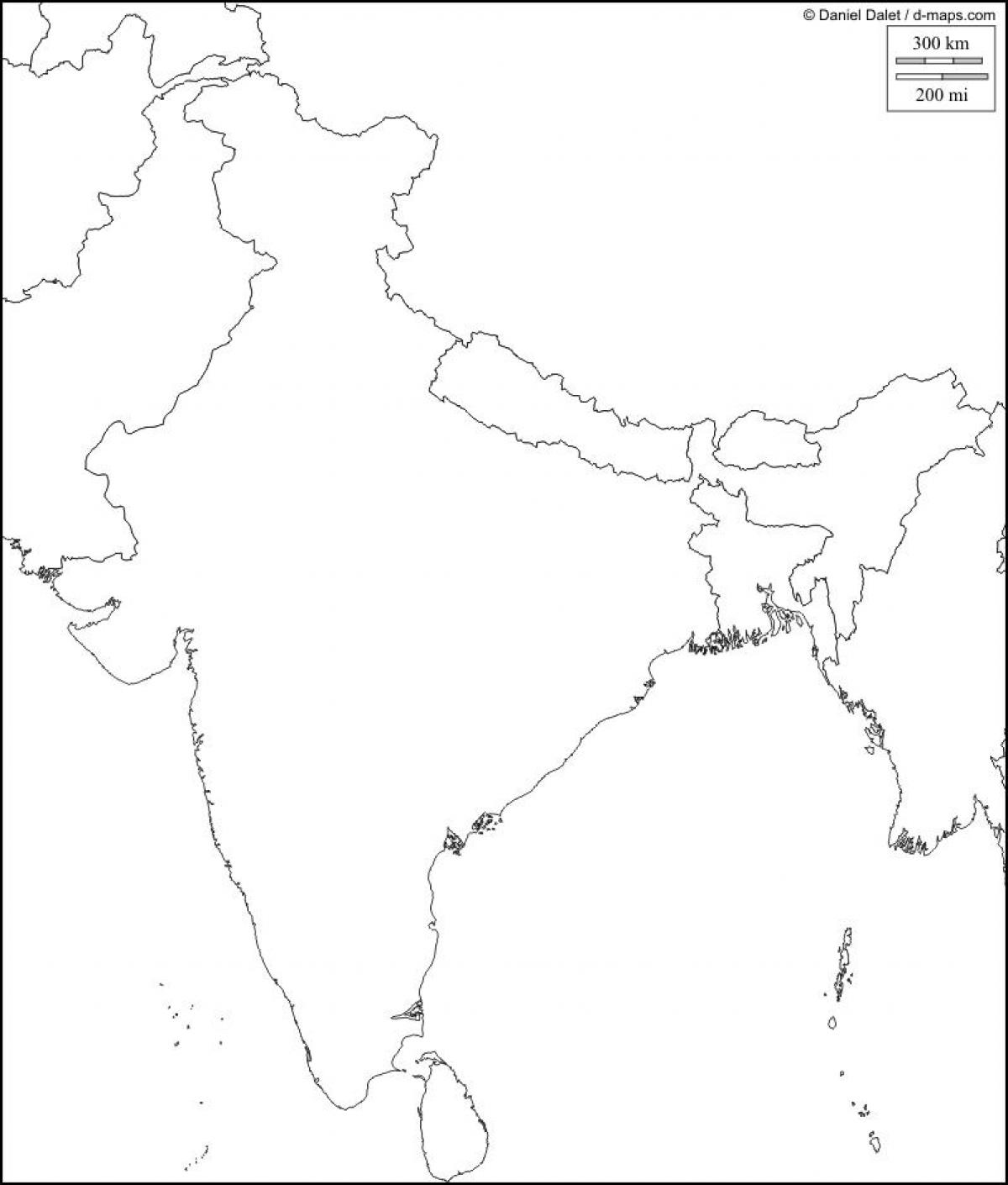 Physical map of India blank India physical map blank Southern