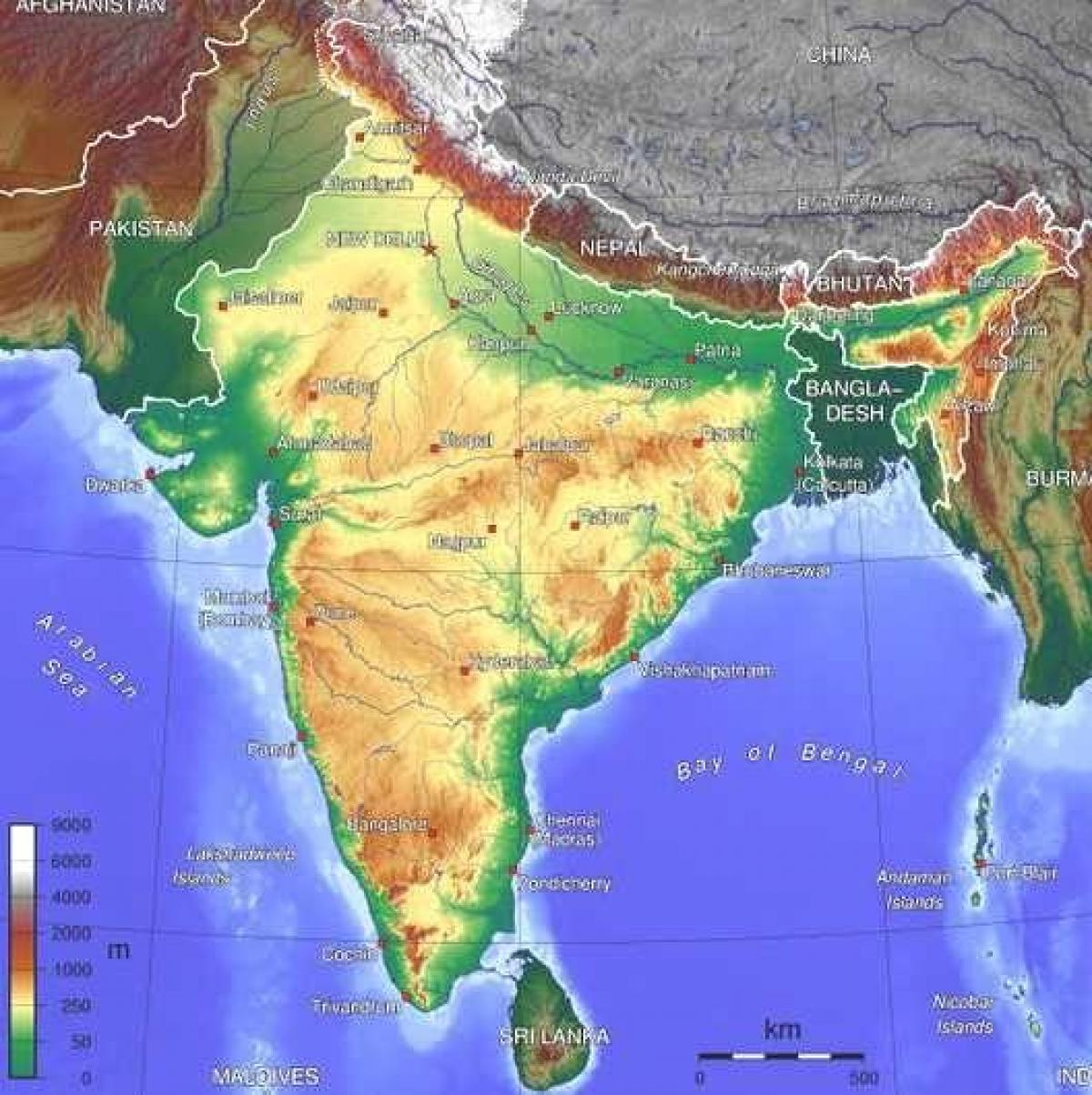 Physical Map Of India For Kids India Physical Map For Kids - Physical map for kids