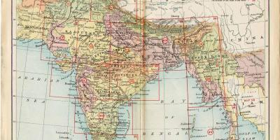 Old India map
