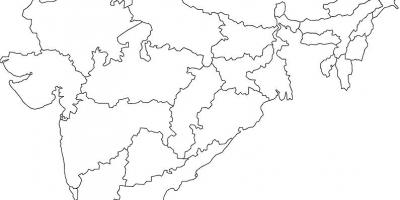 India map outline india outline map southern asia asia thecheapjerseys Images